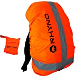 RHYNO(ライノ) リュックカバー レインカバー バックパックカバー ザックカバー 雨 PUコーティング 防水 / 反射 リフレクター ポーチ 付き / ~ 35l