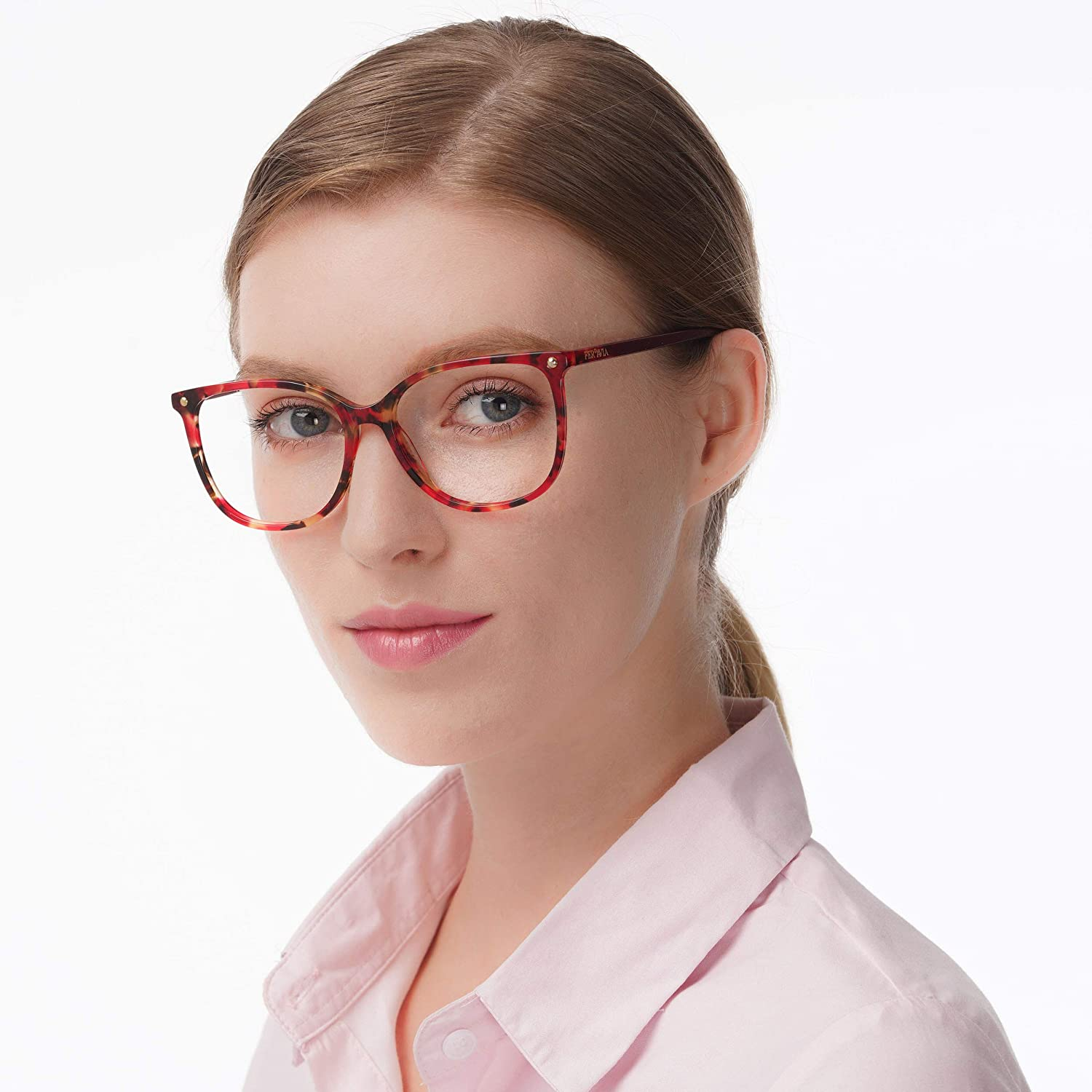 Oversize Optical Eyeglasses Non-prescription Acetate Frame for Women