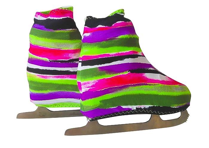 Funda Cubre patines para patinaje artistico sobre ruedas o sobre hielo, impresión RIGHE