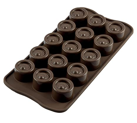 Silikomart Silicone Chocolate Vertigo Mould Candy & Chocolate Moulds at amazon