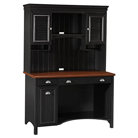 Stanford Computer Desk with Hutch in Antique Black - Amazon.com: Stanford Computer Desk With Hutch In Antique Black