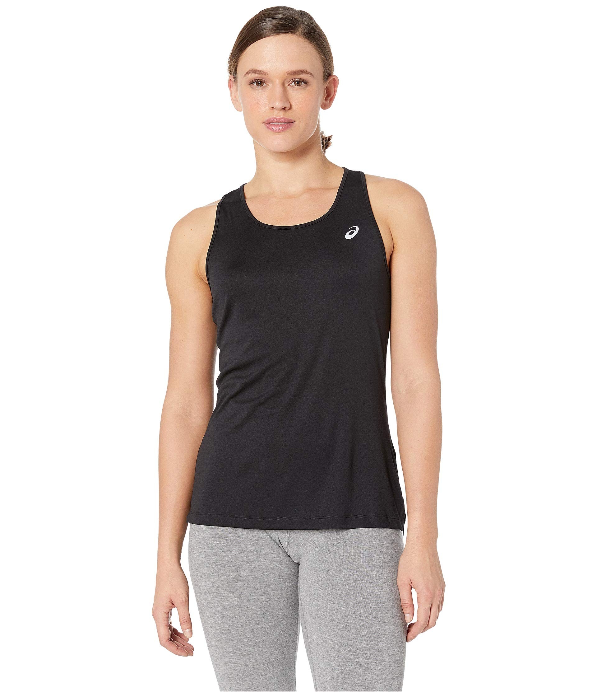 ASICS Women's Silver Tank, Performance Black, Large by ASICS