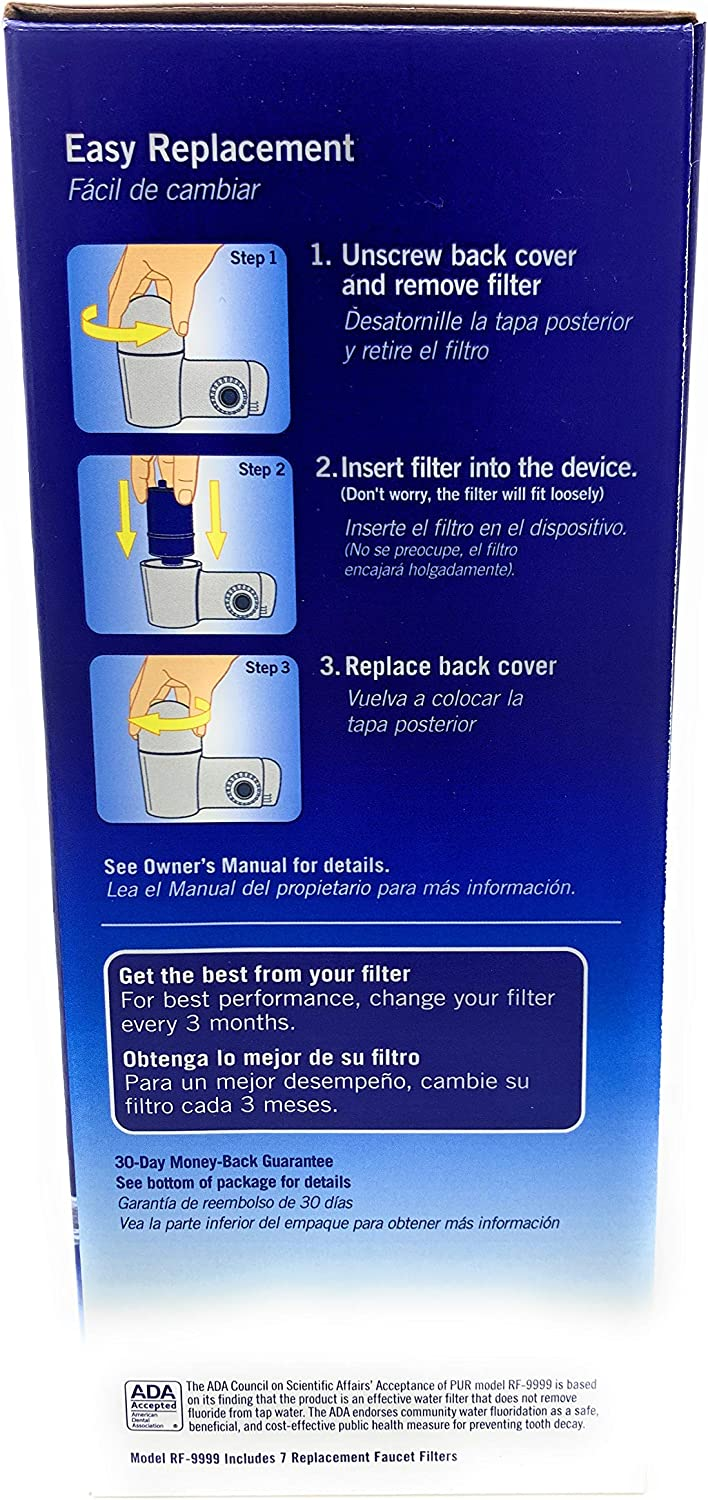 3 Stage Faucet Mount Filters 7 Pack With Max Ion Filter Technology Amazon Com