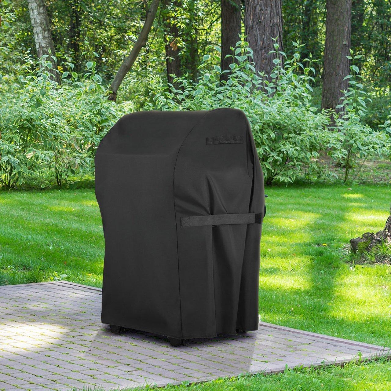 Housse B/âche de Protection BBQ Couverture de Gril Anti-UV//Anti-leau//Anti-lHumidit/é pour Holland Brinkmann et Char Broil JennAir Housse Barbecue 76 * 66 * 109cm HOMASY