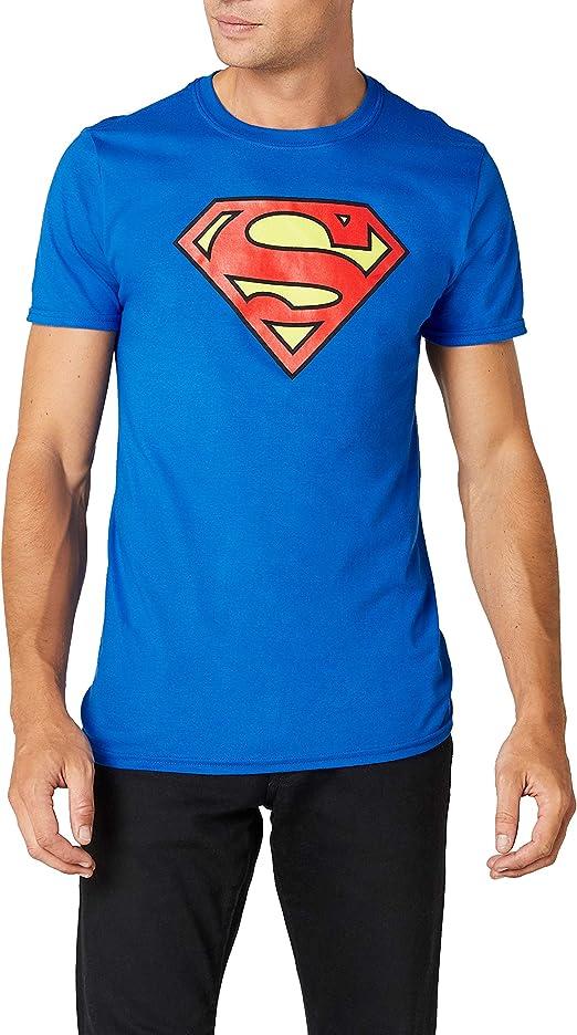 DC Comics hombre Superman Logo Camiseta XXX-Large Azul real: Amazon.es: Ropa y accesorios