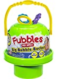Little Kids Fubbles No-Spill Big Bubble Bucket in Green for Multi-Child Play, Made in the USA
