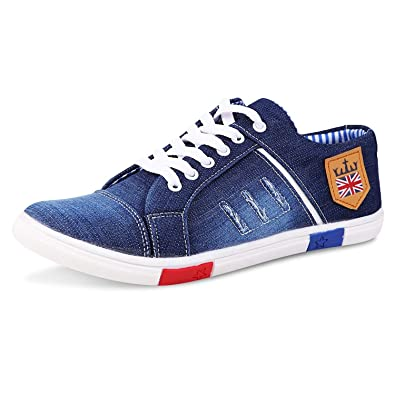 8fdce79cca0b95 Red Rose Men s Blue Jens Sneakers Casual Shoes  Buy Online at Low ...