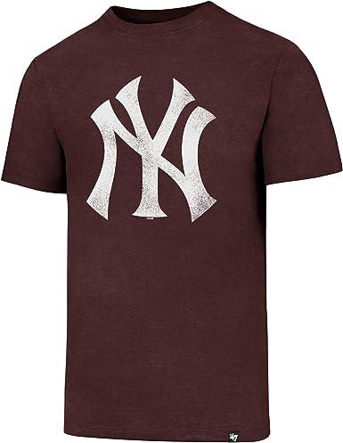 47 Brand MLB New York Yankees Camiseta Hombre Granate XXL (XX ...