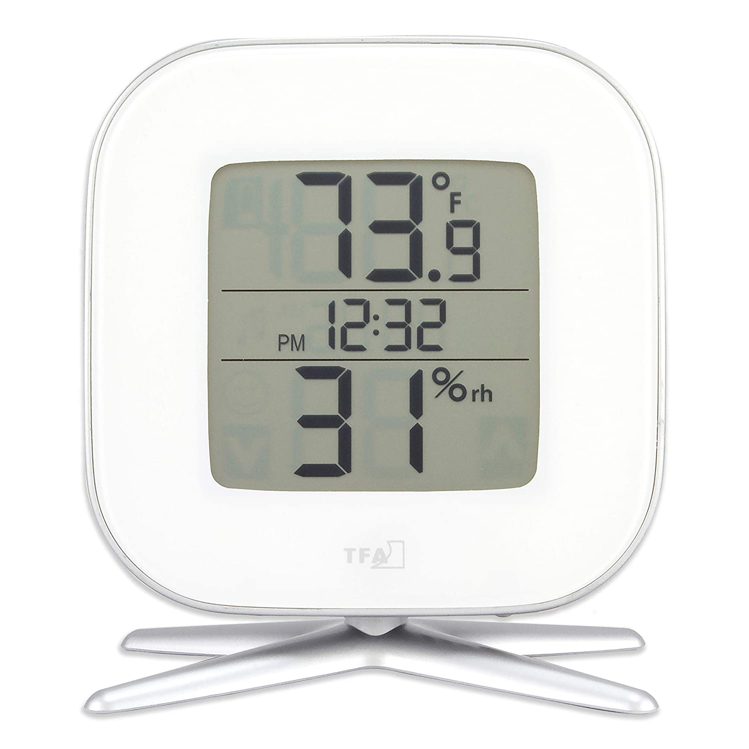 La Crosse Technology 30.5030.02 Tivi Digital Thermo-Hygrometer with Time, White TFA Dostmann