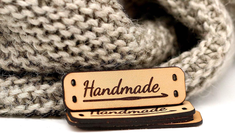 Etiquetas de cuero hechas a mano