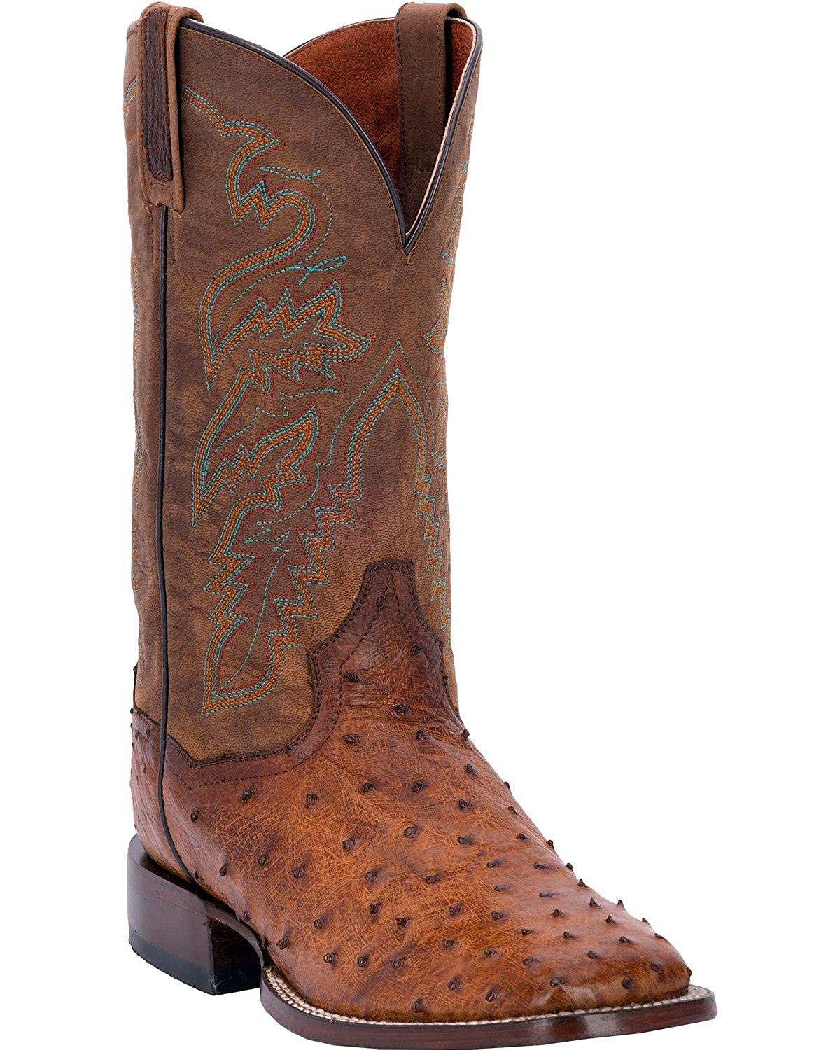 Dan Post Men's Chandler Full Quill Ostrich Cowboy Boot Square Toe - Dps254