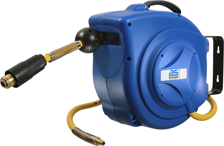 raccords rapides as Schwabe enrouleur pneumatique automatique tuyau air comprim/é longueur 15m