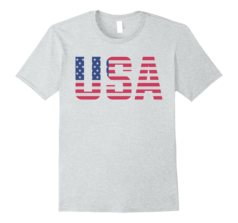 USA American Flag Patriotic T-Shirt-FL