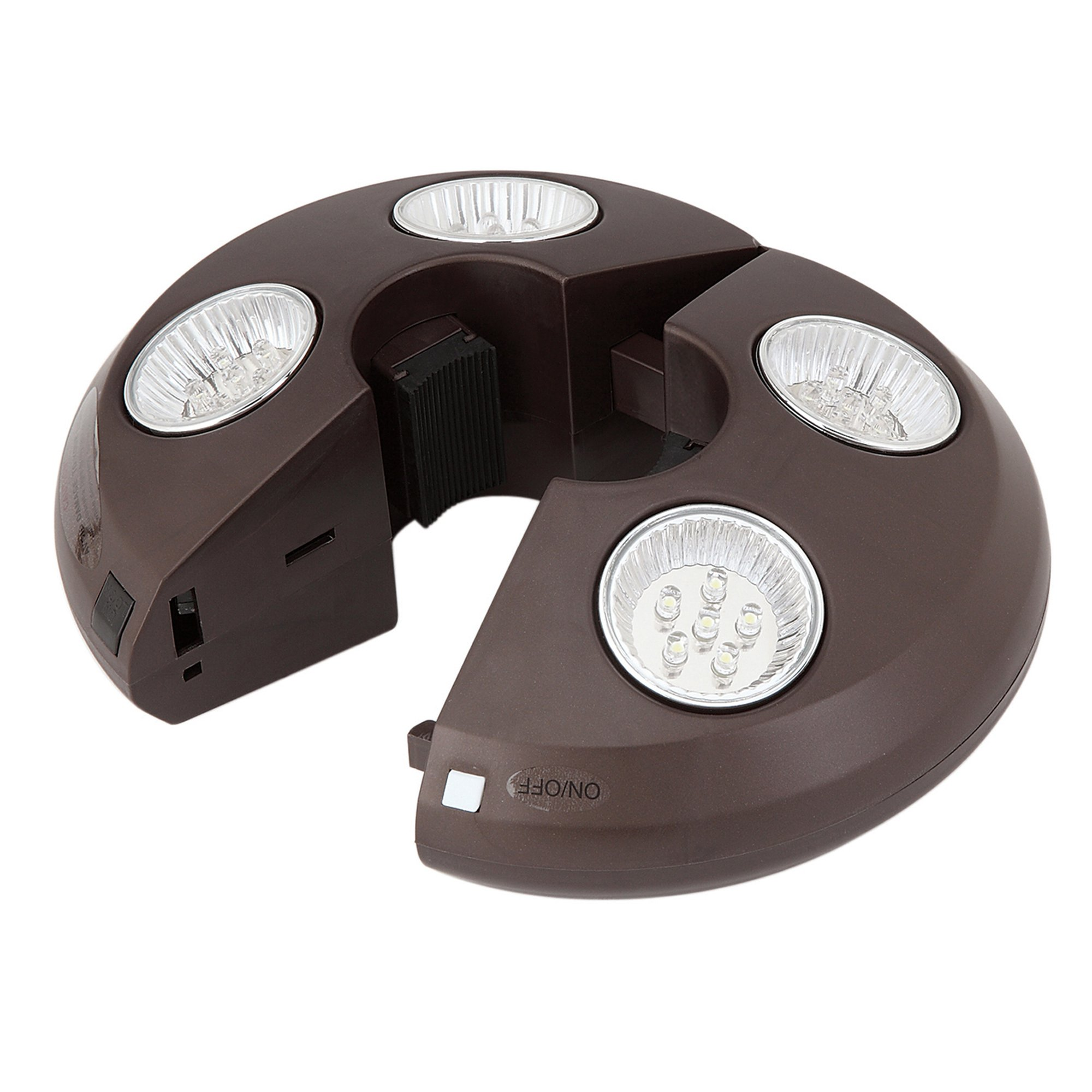 4-Light Rechargeable LED Umbrella Light by Swim Time