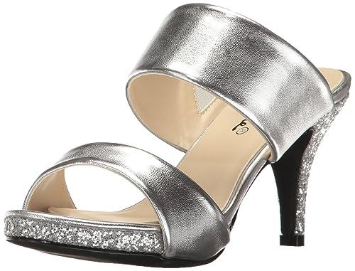 6b85d7394b4 Annie Shoes Women s Boyton Dress Sandal Silver 6 ...