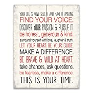 Your Life Is Now, 1-Piece Sign. Image Printed Canvas Art, 20 Inch by 16-Inch,Great for Any Decor