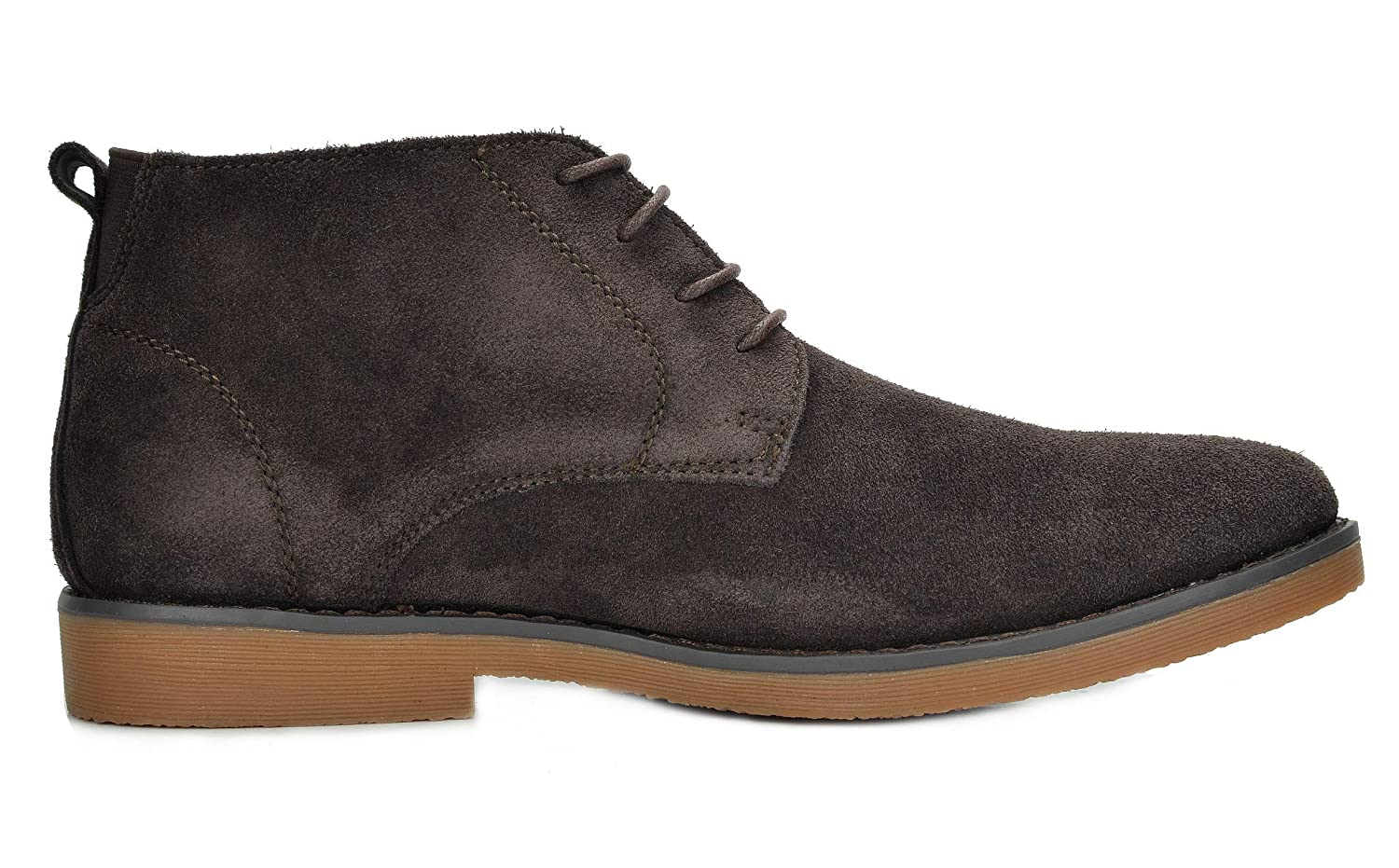 Bruno Marc Mens Classic Original Suede Leather Desert Storm Chukka Boots