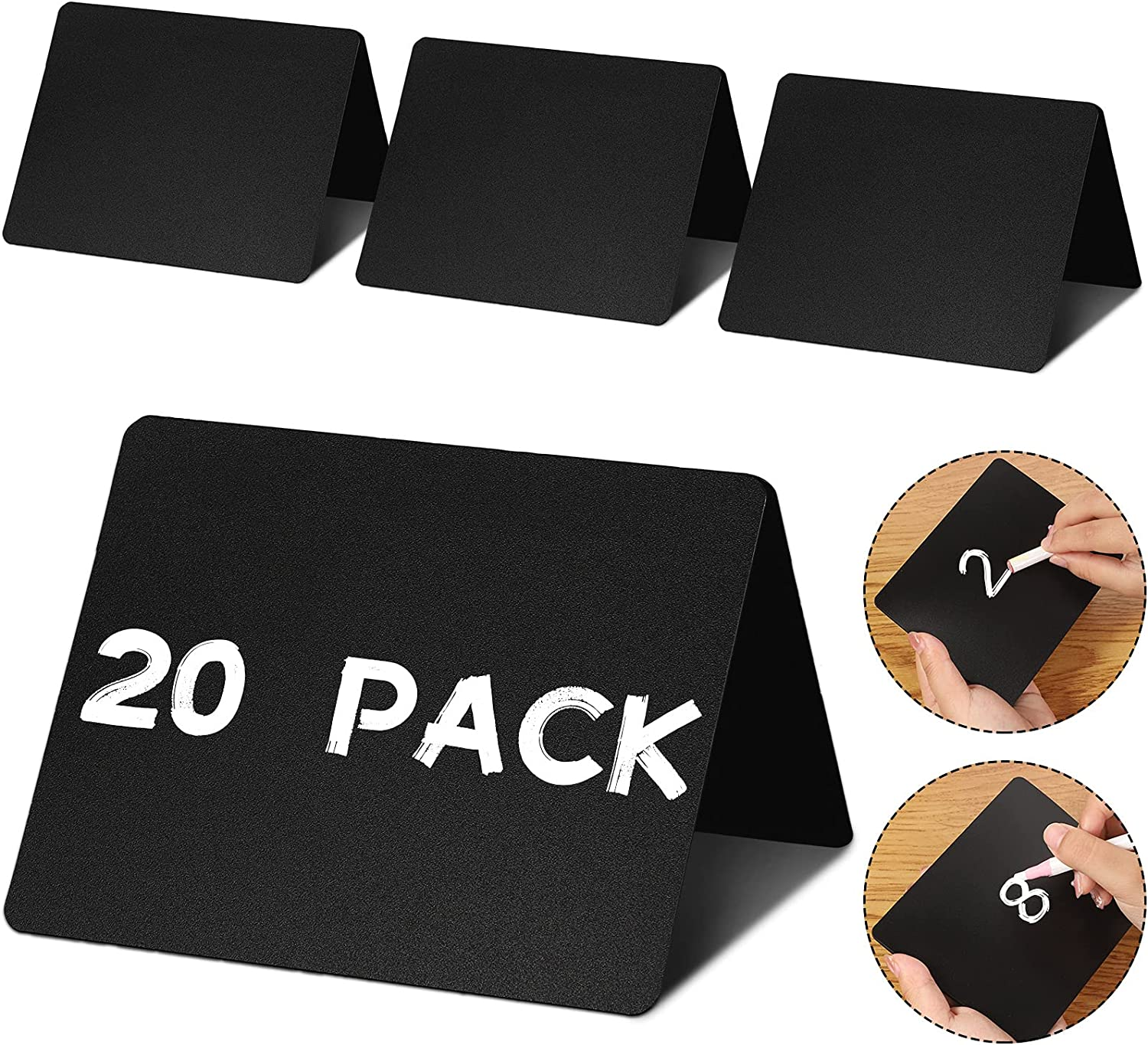 20 Pieces Mini Chalkboard Buffet Signs Chalkboard Food Signs 4 x 3 Inch Chalkboard Food Labels Chalked Name Tags Wedding Table Signs Party Buffet Tables for School Office Party Decoration