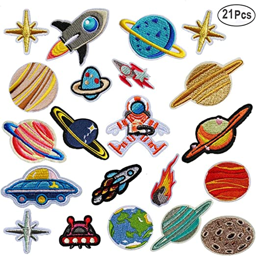 MWOOT Patch Sticker,21 Pz Parche Termoadhesivo, Sistema solar ...