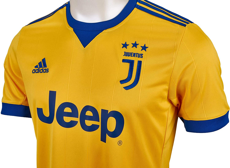 Amazon Com Adidas Juventus Youth Away Jersey 2017 2018 Yxl Yellow Blue Clothing