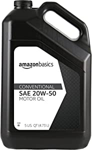 AmazonBasics Conventional Motor Oil, 20W-50, 5 Quart