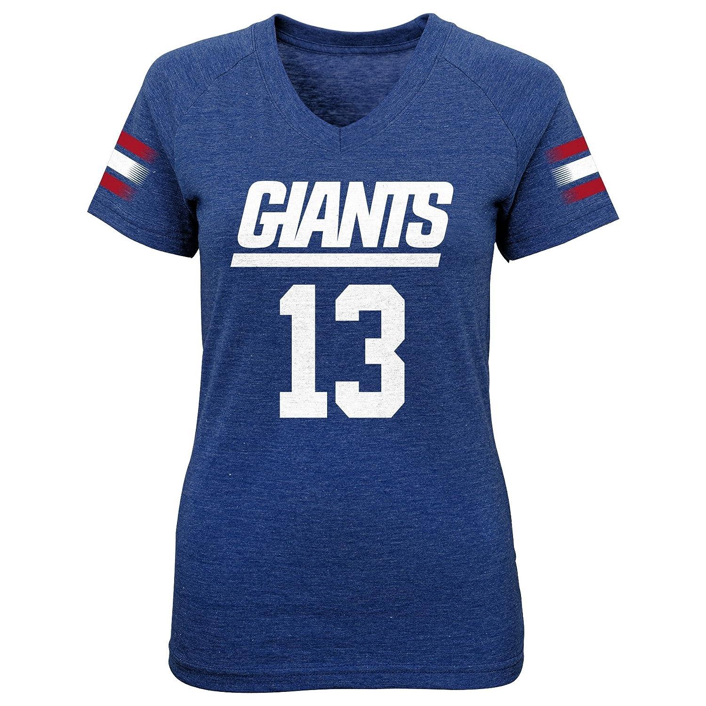 Outerstuff NFL Girls 7 16 Main Stripes Player Short Sleeve Tee