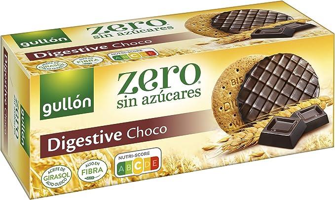 Gullón Galleta Digestive Chocolate, ZERO sin azúcares, Caja 270g