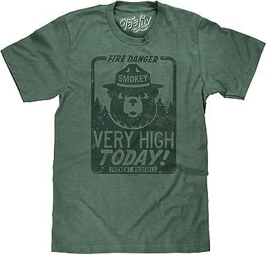 Tee Luv Smokey Bear - Camiseta de manga corta con diseño de oso ahumado - Verde - XXX-Large: Amazon.es: Ropa y accesorios