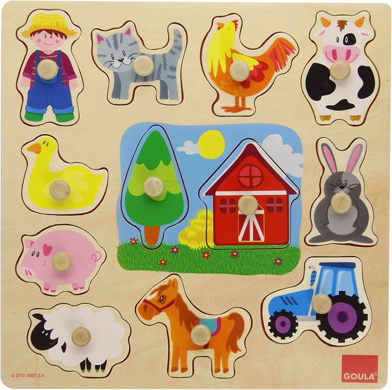 Puzzle madera silueta granja Diset Diset Juegos Educativ