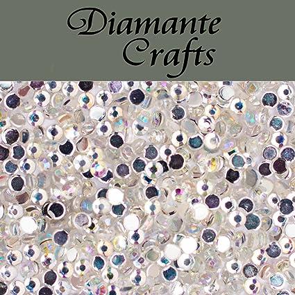 1000 x 1mm Mixed Colours Diamante Loose Flat Back Rhinestone Craft Embellishment