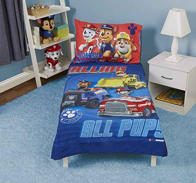 Green Blue White Orange Everything Kids Super Hero Blue White with Colorful Primary Accents Caped Wild Animals 4Piece Toddler Bed Set