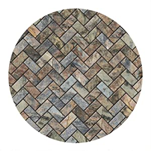 Thirstystone Stone Sandstone Herringbone Print Coaster Set, Multi