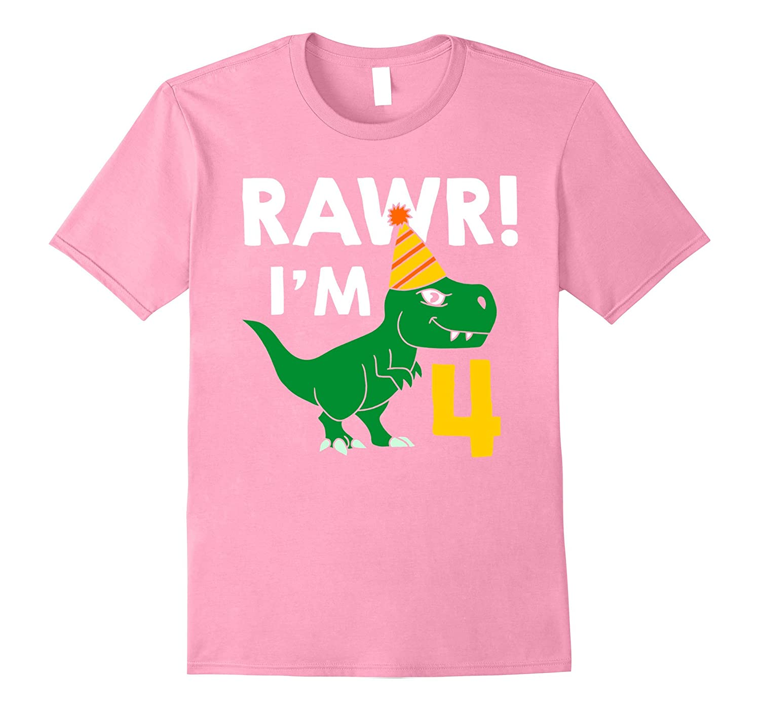 4th Birthday Boy Of Dinosaurs T Shirt 4 Years Old TH