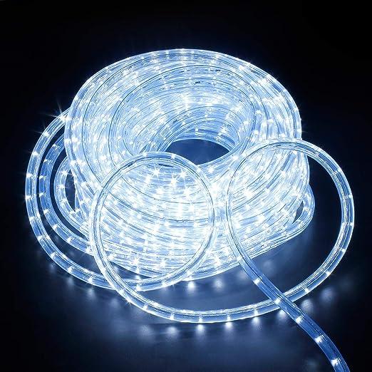 TUBO LUMINOSO LED ip44 GIARDINO ESTERNO DECORAZIONE NATALE 6m leuchtschlauch
