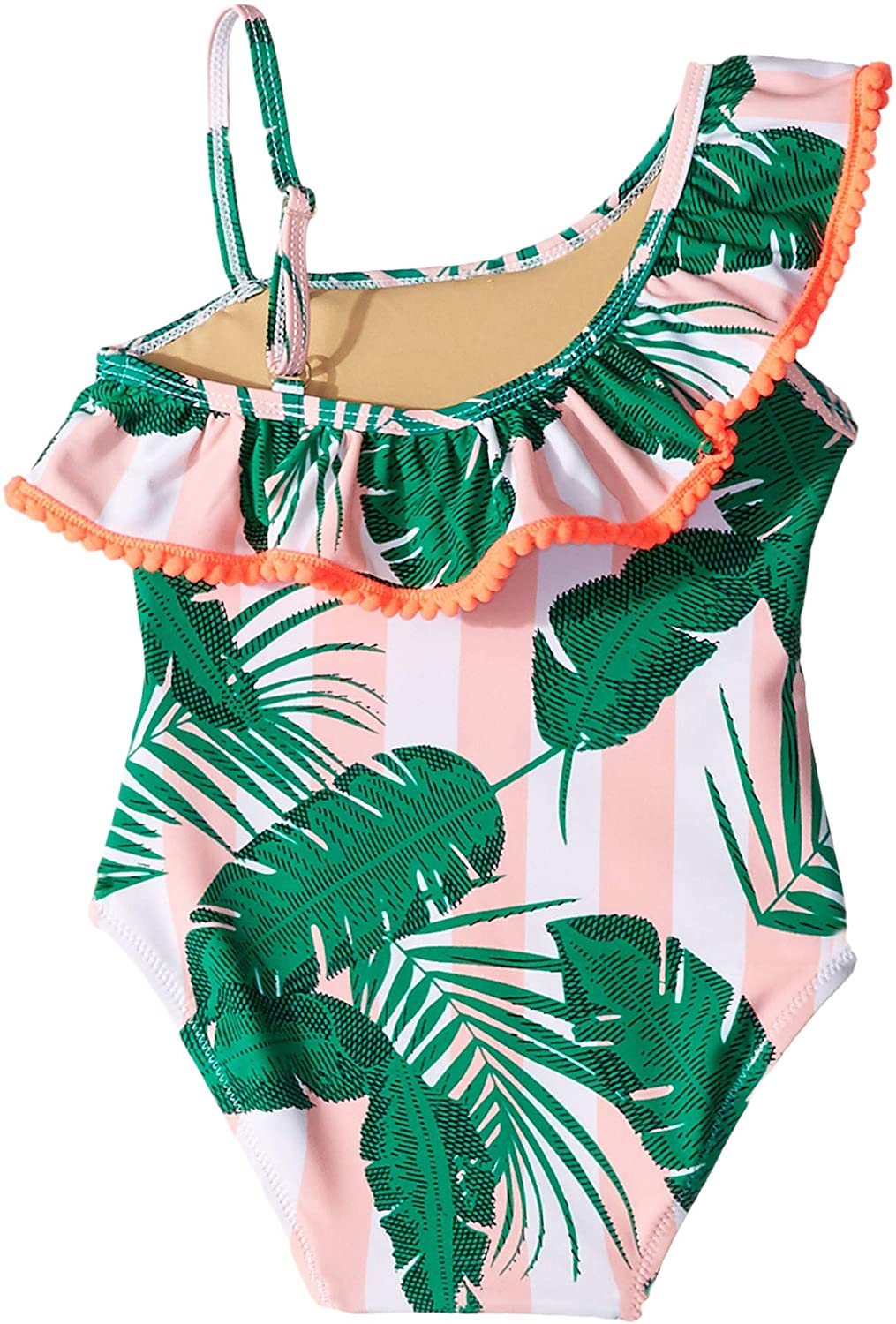 Infant//Toddler Shade Critters Baby Girls One Shoulder Botanical One-Piece