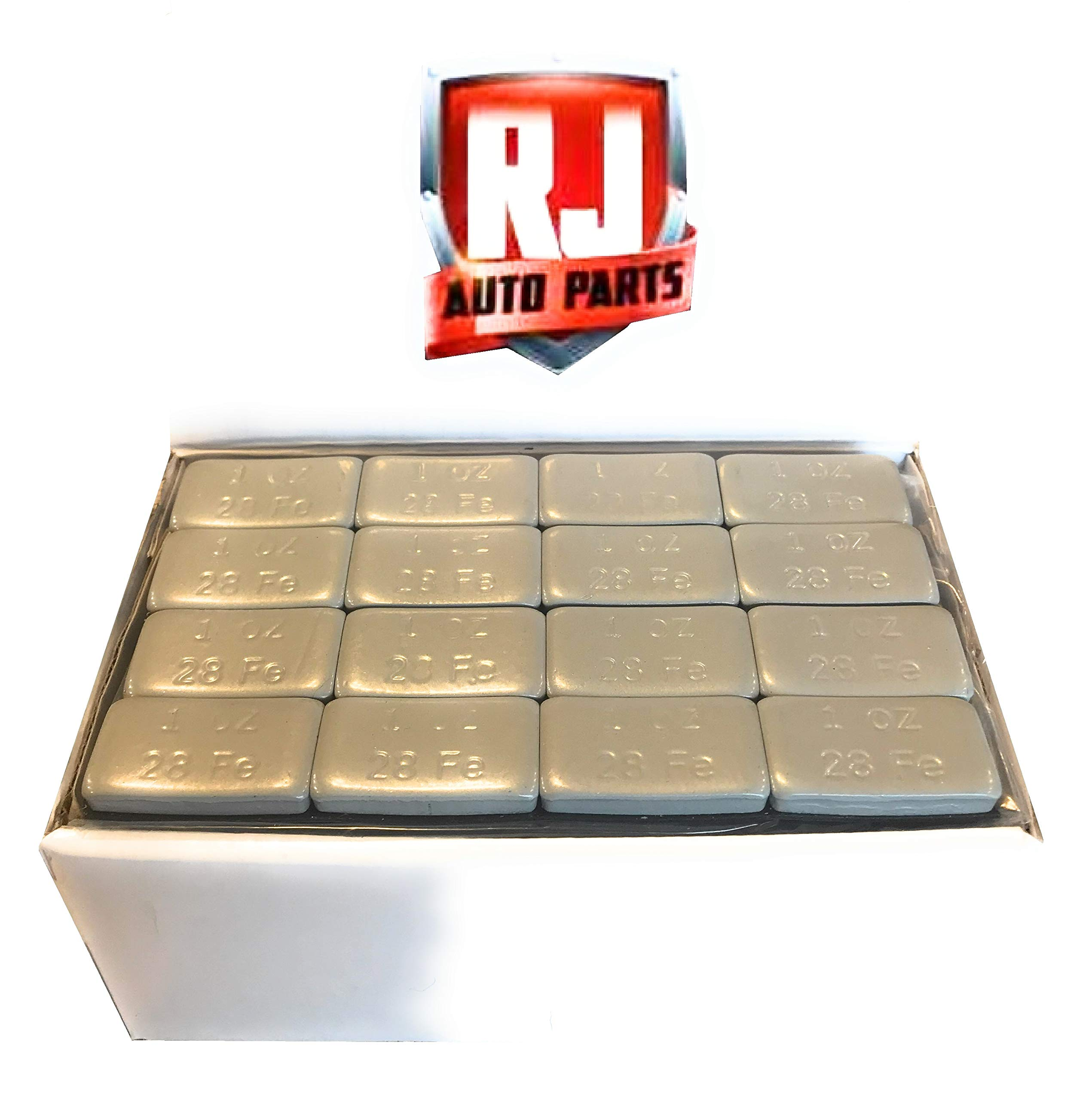 6 Boxes Wheel Weights, Grey 1 oz, Stick-on Adhesive Tape, Lead Free (54 lbs) 864 Pieces by RJ Auto Parts