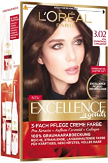 loral paris excellence brown legends coloration 302 khl schimmerndes dunkelbraun 1 stck - Coloration Excellence