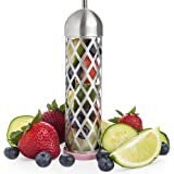 Stainless Steel Water and Fruit Infuser - Flavor Infusion for Beverages, Pitchers, Sports Water Bottles - Removable, Portable Tea and Herb Infusers - Liven Drinks with Fresh Fruits (6.5in x 2.7in)