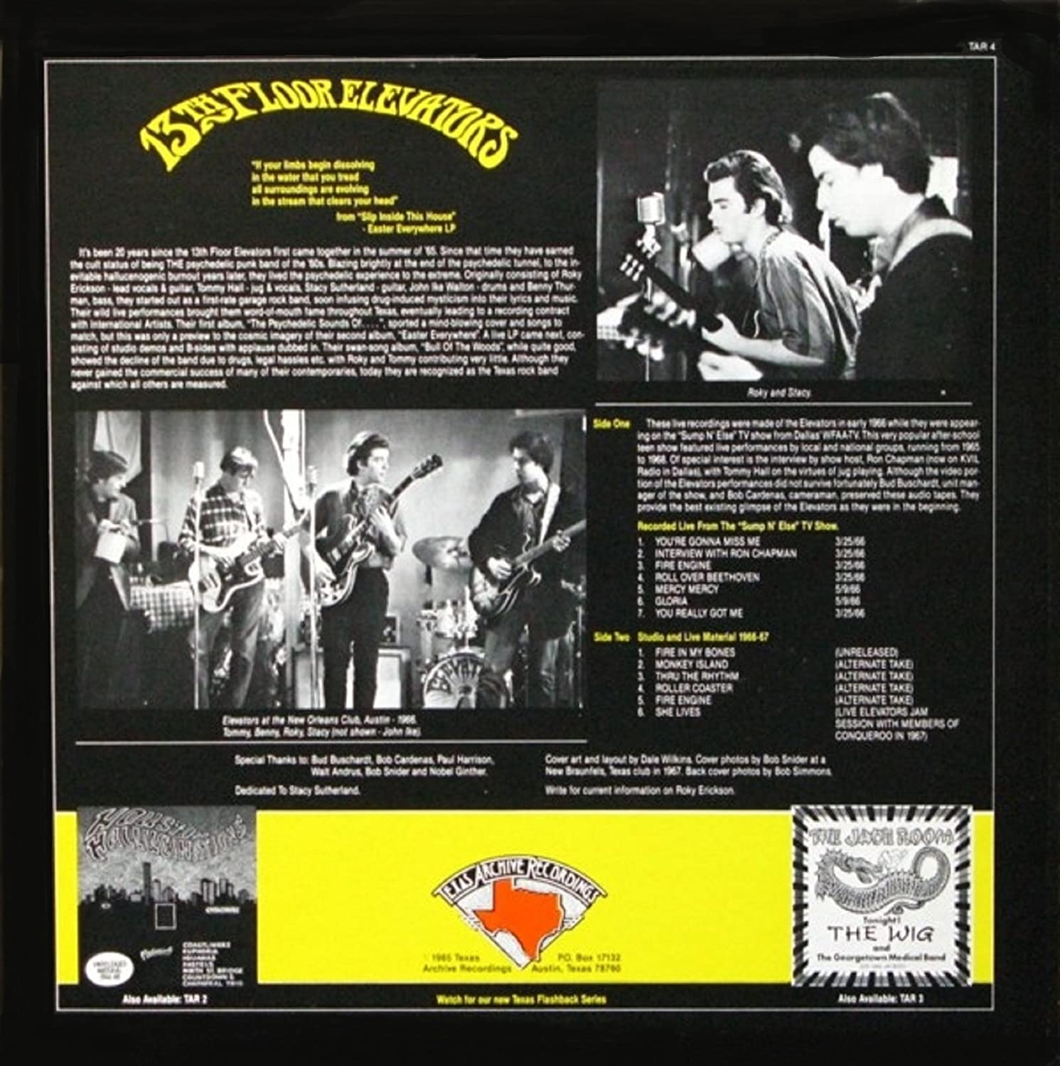 13th FLOOR ELEVATORS, Roky Erickson, Tommy Hall, Stacy Sutherland, Benny Thurman, John Ike Walton - Fire In My Bones - Amazon.com Music