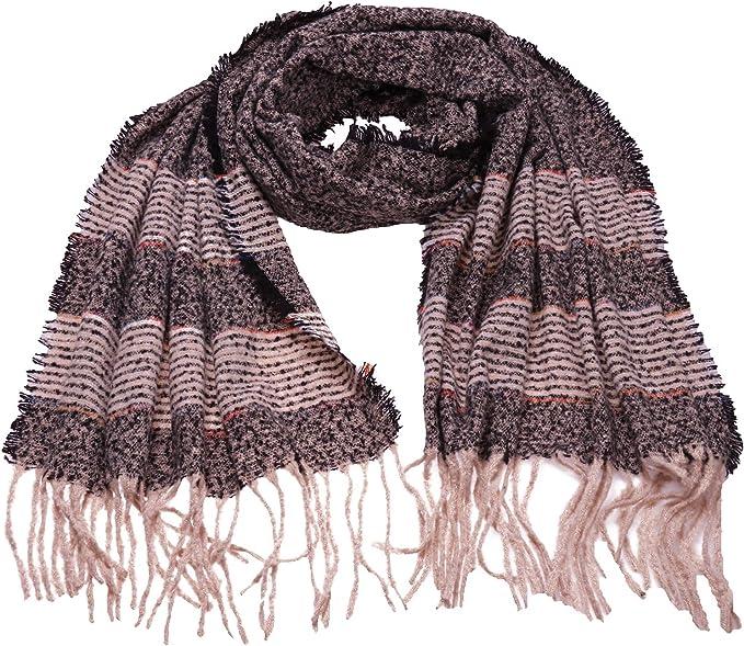 Fashion Womens Cashmere Blend Long Pashmina Shawl Scarf Tassels Wrap Warm Winter