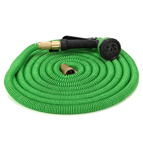 EagleWill 100ft Expandable Garden Hose Set, With 8 Adjustable Modes Spray  Nozzle, Kink