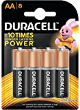 Duracell Alkaline AA Battery with Duralock Technology - 8 Pieces