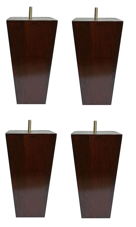 Amazon com 6 solid wood furniture sofa chair ottoman tapered legs walnut finish 5 16 bolt set of 4 kitchen dining
