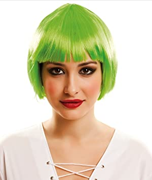 My Other Me Me - Peluca corta, color verde (Viving Costumes 202513)