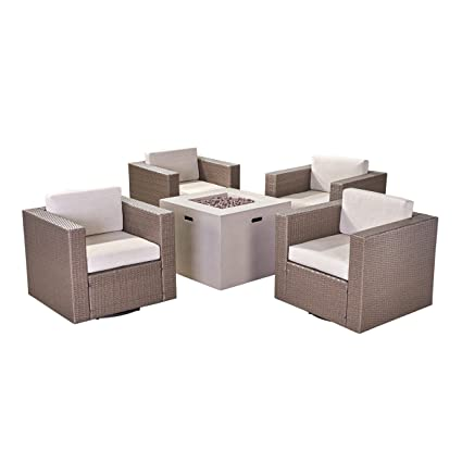 Amazon.com : Great Deal Furniture Fuller Outdoor 4 Piece ...