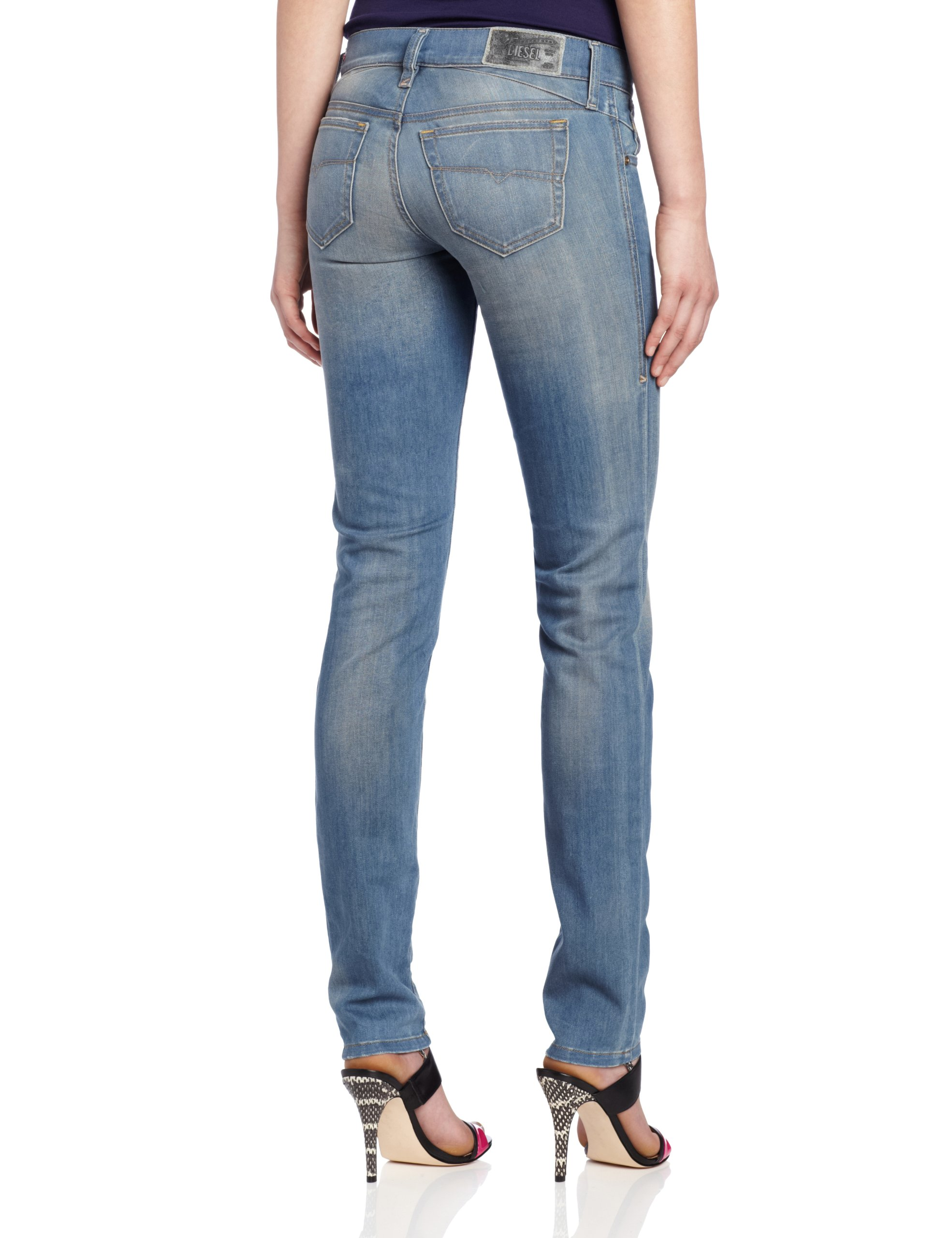 Diesel Women's Getlegg Slim Skinny Leg Jean 0821E, Denim, 29x32 by Diesel (Image #2)