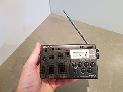 Sony ICF-M260 Portátil Analógica Plata - Radio (Portátil, Analógica, Plata,