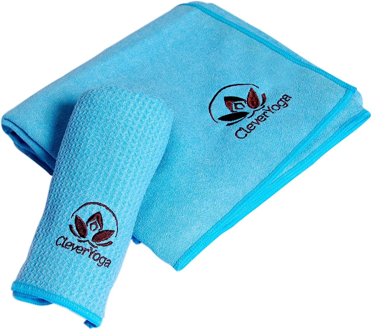 Durable Microfiber Clever Yoga Towel and Hand Towel Combo Non Slip