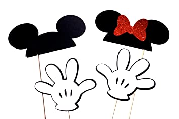 picture about Minnie Mouse Photo Booth Props Printable titled : Disney Motivated Photograph Booth Props - Preset of 4