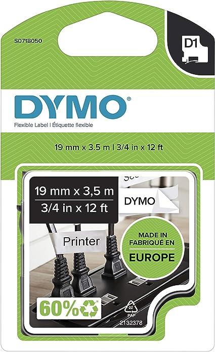 Dymo Tape D1 Flexible Nylon 19mm X 3 5m Tape Flexibel Type D1 S0718050 Bürobedarf Schreibwaren